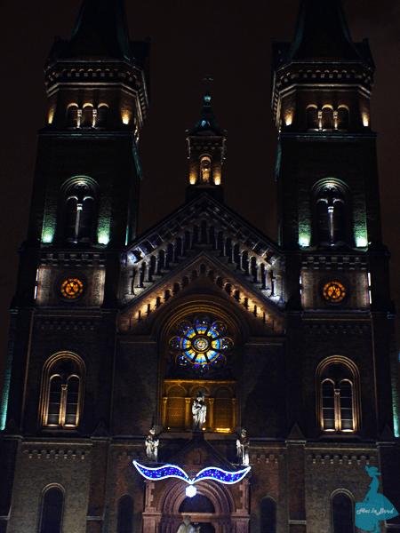 biserica millenium timisoara noaptea