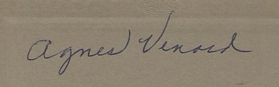 Agnes Venard DL ant back