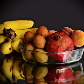 Fruit Basket by Prasanta Das - Food & Drink Fruits & Vegetables ( fruits, assorted, glass container )