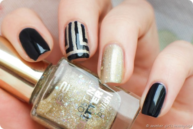 Challenge Nailartapr Accent elegant Essie After School Boy Blazer Egypt nail Vinyls Glitter Gold Blue-4
