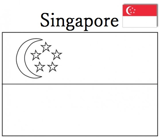 Geography Blog Singapore Flag Coloring Page