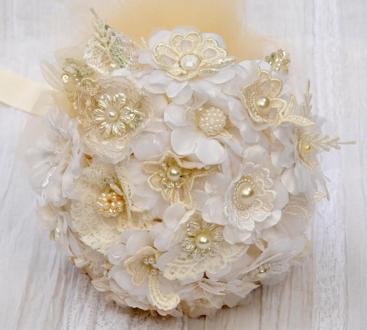 Fabric Bridal Bouquet Vintage