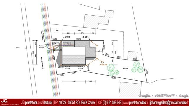 Jg dessin architectural for Plan de situation pour permis de construire