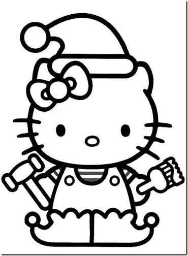 colorear hello kitty navidad (6)