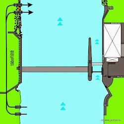 Při vyšším stavu vody nemá vodák šanci na vlastní záchranu. Tu lzeuskutečnit pouze házečkou, případně navázaným jištěným člunemzpod jezu.