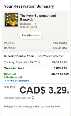 Hotels.com美國優惠碼已完結,仲有加拿大網站優惠碼可以用,識得用仲可以【免費住酒店】1晚,快搶!