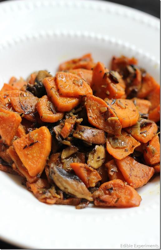 Autumn Time Sweet Potato and Mushroom Hash