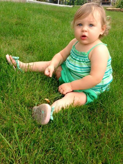 Sitting in grass