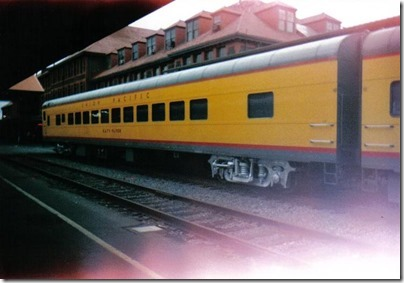 Union Pacific Coach #5468 Katy Flyer at Union Station in Portland, Oregon on September 26, 1995