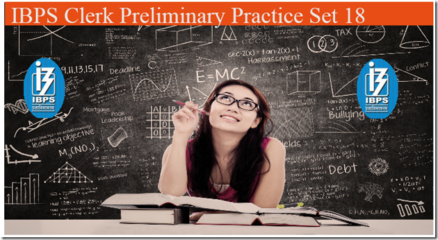 IBPS Clerk Preliminary Question paper PDF Set 18