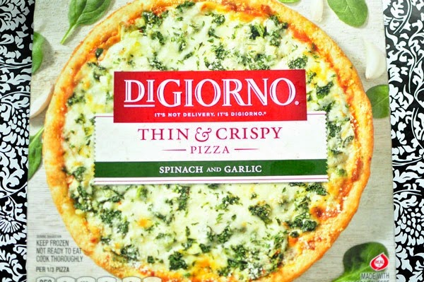 Monica created a gourmet pizza using DiGiorno pizza as a canvas. Semi-homemade, easy, and looks tasty!