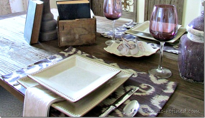 Summer table setting using rustic and modern touches