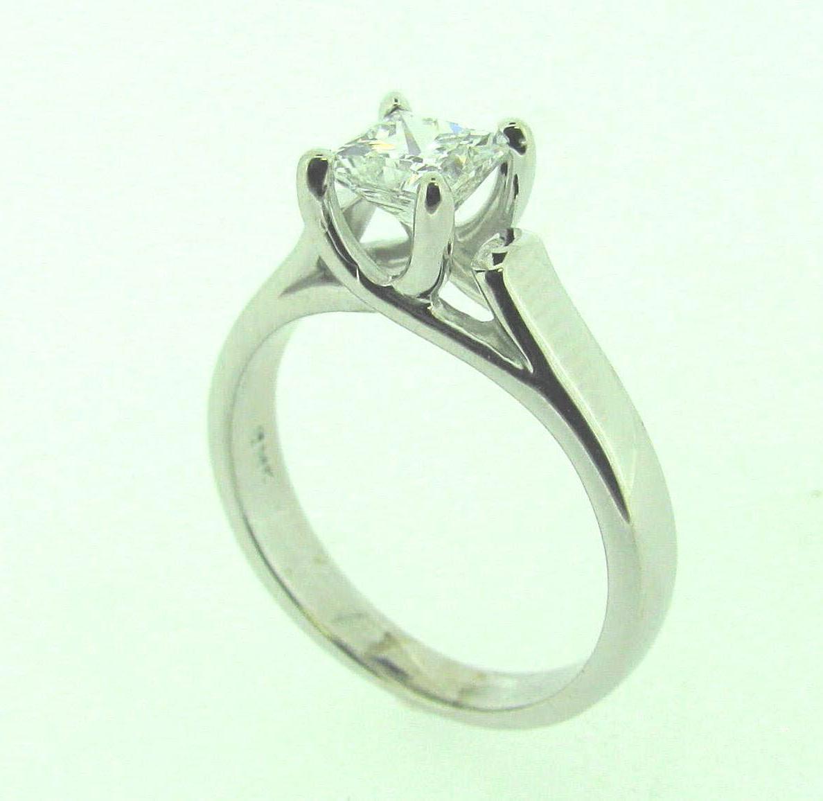 Ring: 14k white gold