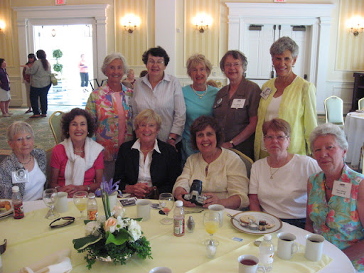 48 - Back row:  Cindy West, Kay Martin, Lucy West, Jane Williamson, Babs Romoser.  Front row: Anne dePorry, Gerry Sample, Fran Karins, Susannah Godlove, Dot Dalton, Nancy Doner