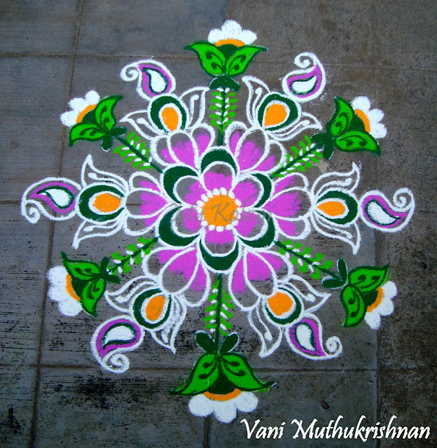 My Kolam: Pinky florals