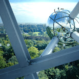 view from the atomium in Brussels, Brussels, Belgium