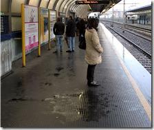Perdite di acqua alla stazione di Piscinola