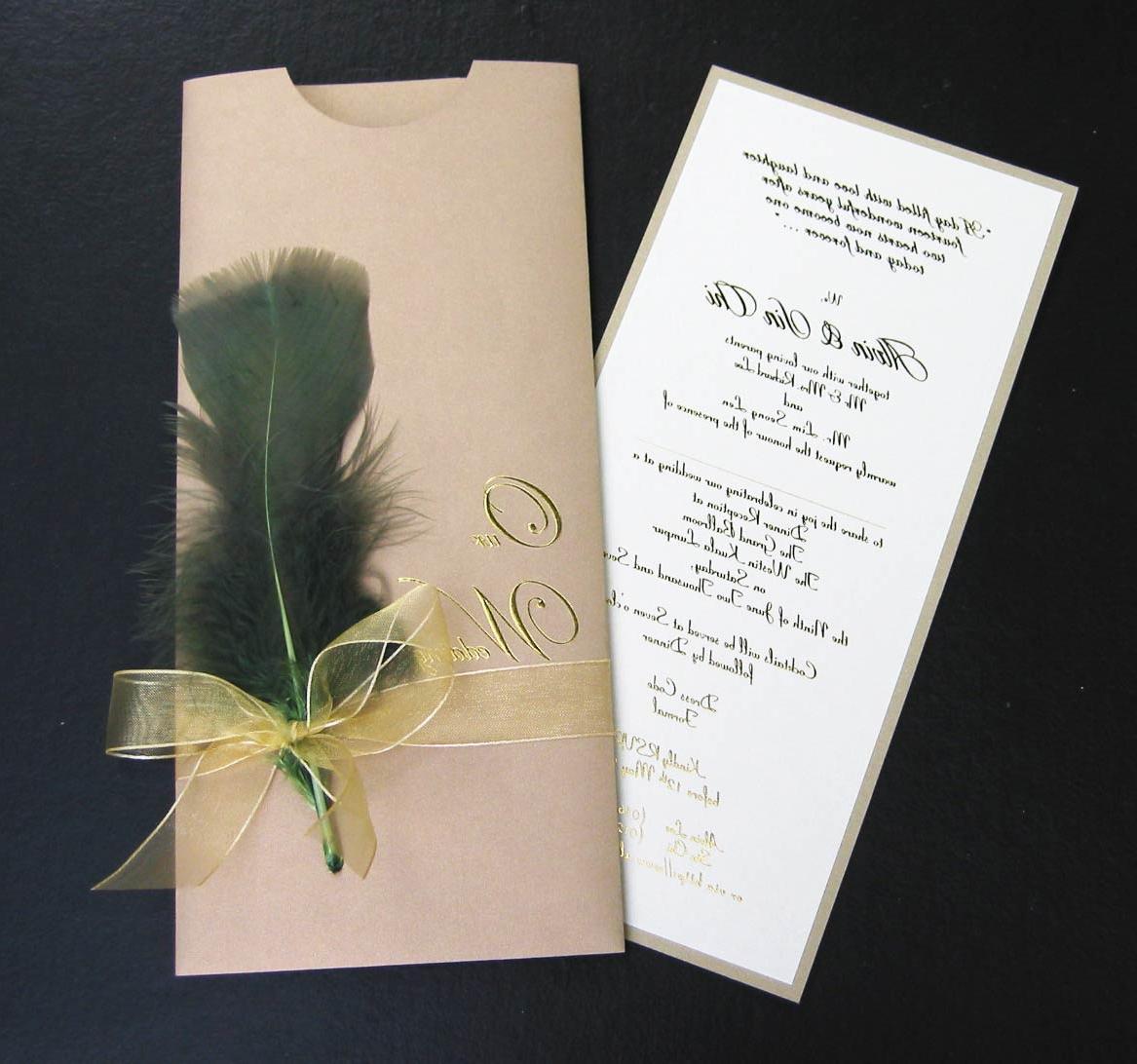 sample wedding card design