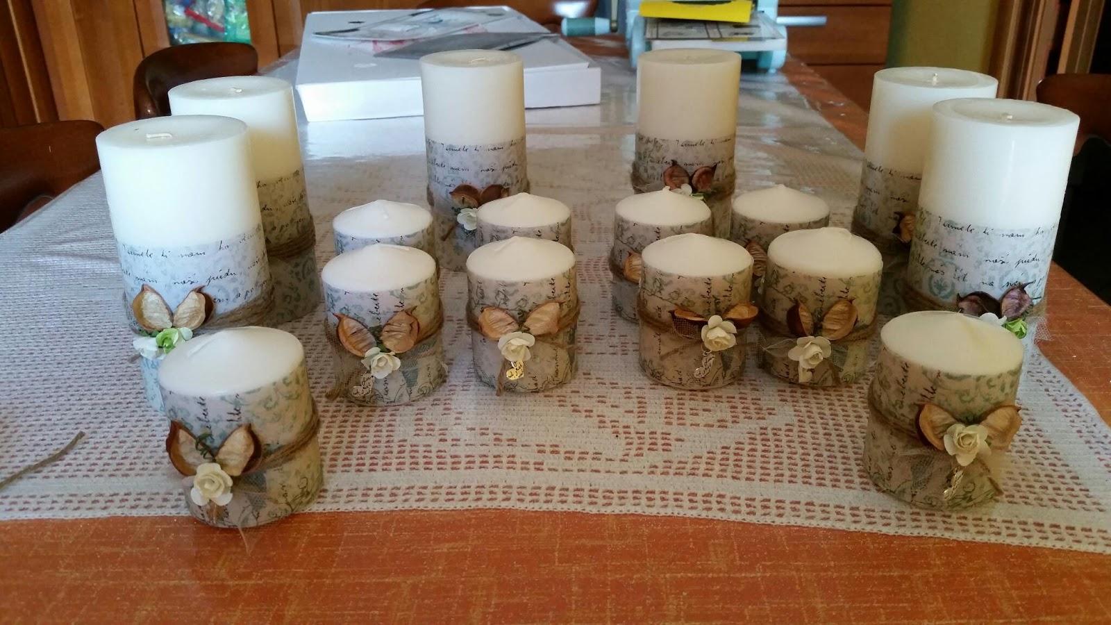 Creativa felice candele e carta combinata vincente - Decorare casa con candele ...