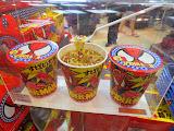 """""""Spider-men"""" instant noodles (""""men"""" means noodles in Japanese)"""