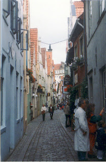 Schnoorviertel in Bremen, Germany.