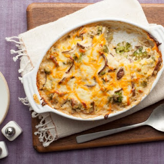 Cheesy Mushroom and Broccoli Casserole