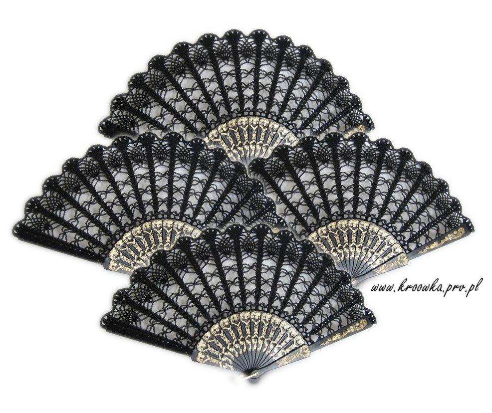 Black & white hand fan
