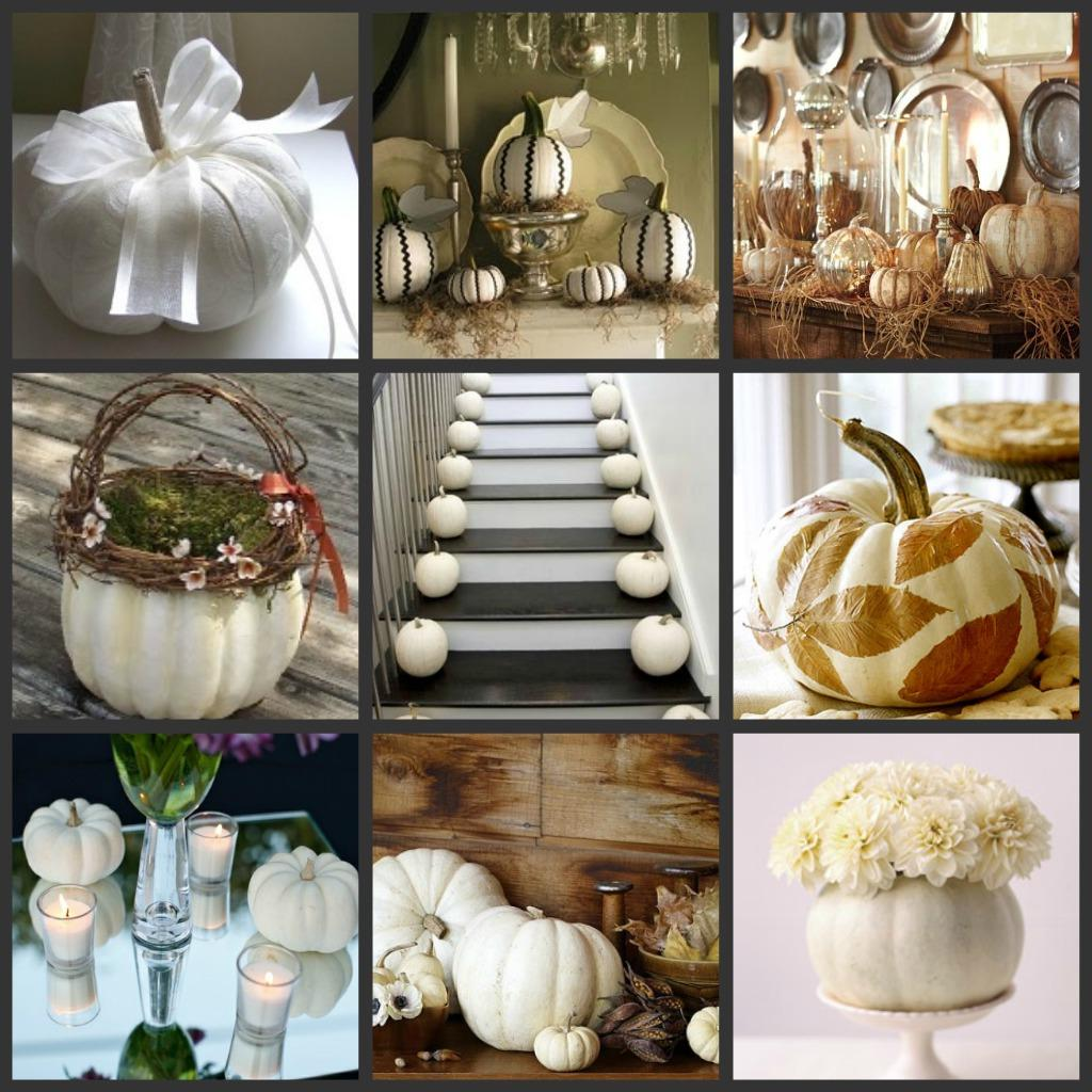 White Pumpkin Fall Wedding