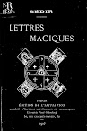 Lettres Magiques (1903,in French)