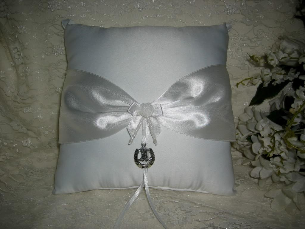 Western Horseshoe & Boot Wedding Ring Bearer Pillow