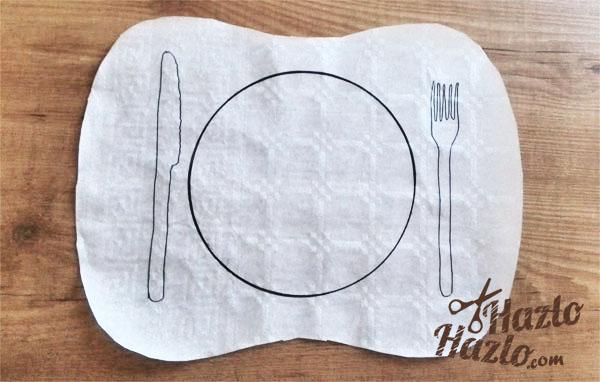 Hacer manteles individuales de papel