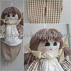 porta sacchetti bambola