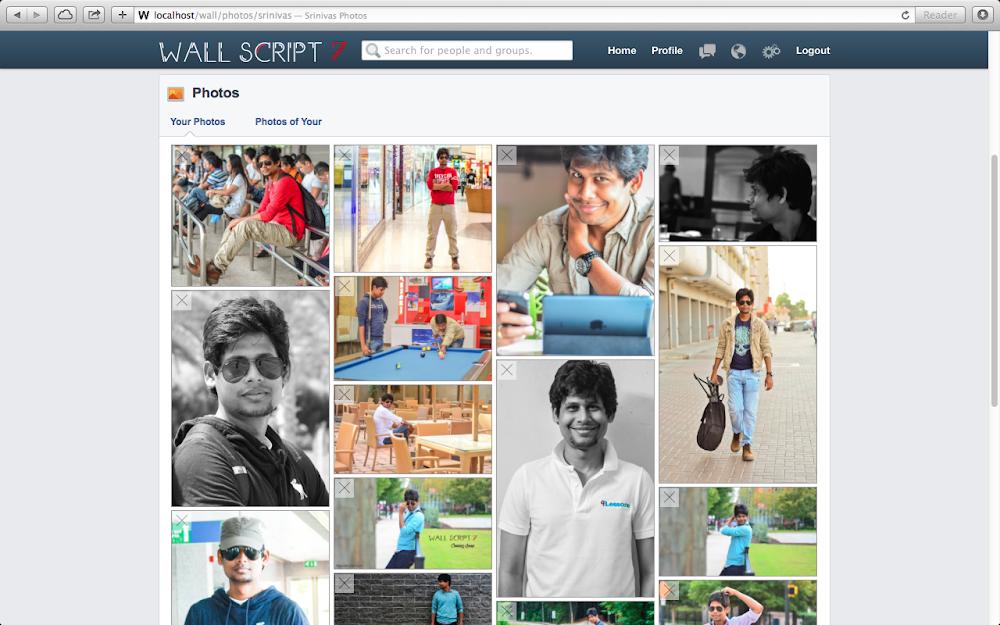 Social Network Script Photo Albums