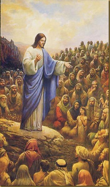 JESUS PREDICANDO EN LA MONTAÑA