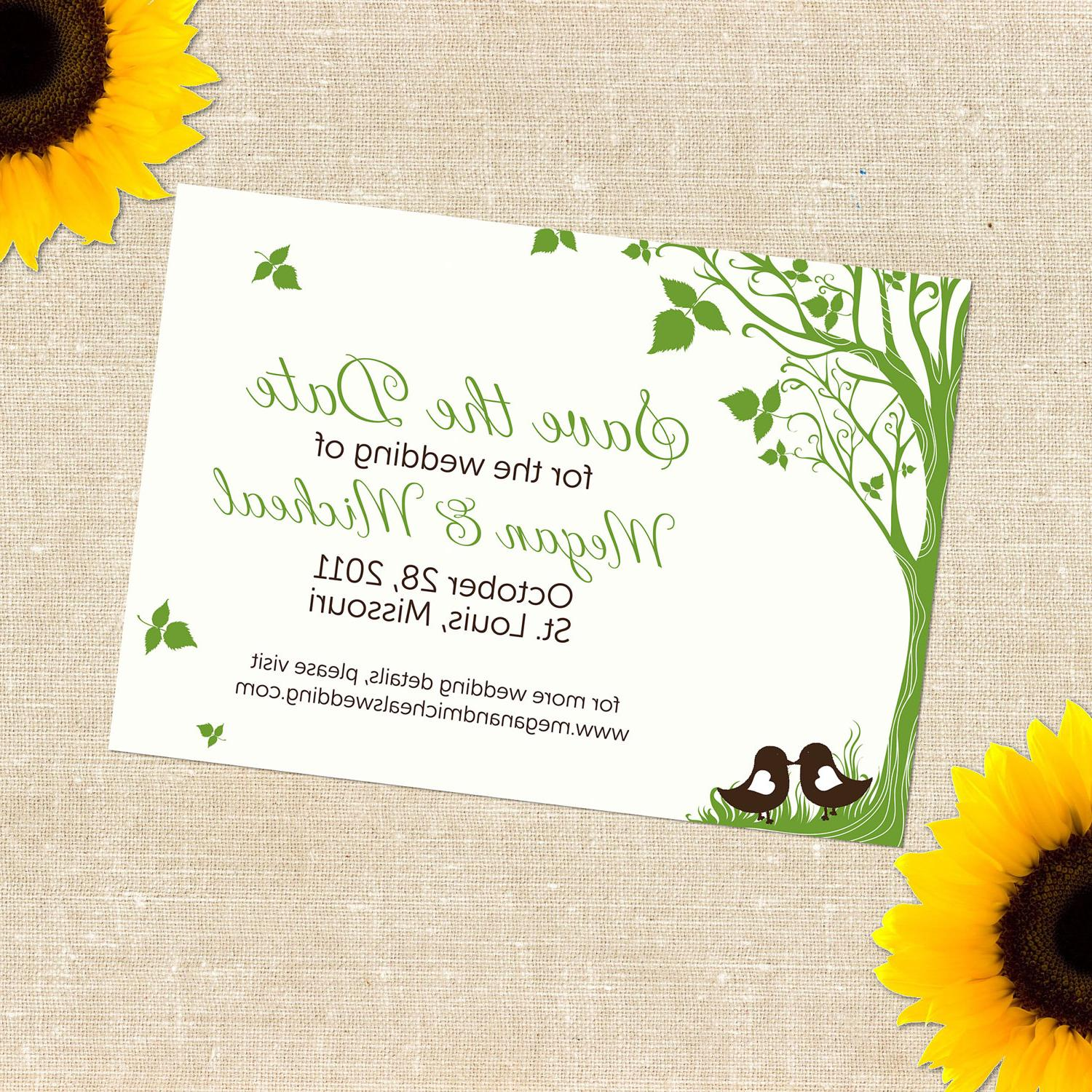 DIY PRINTABLE Love Bird Bella Save the Date Card