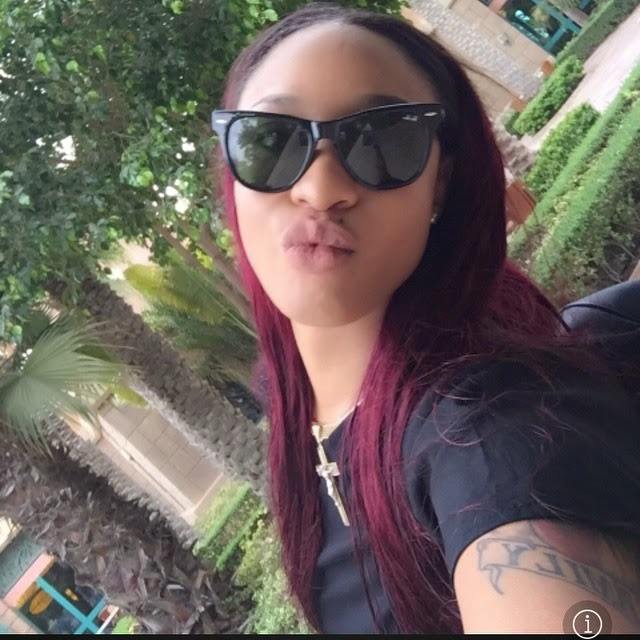 Tonto dikeh decided to let her hair down