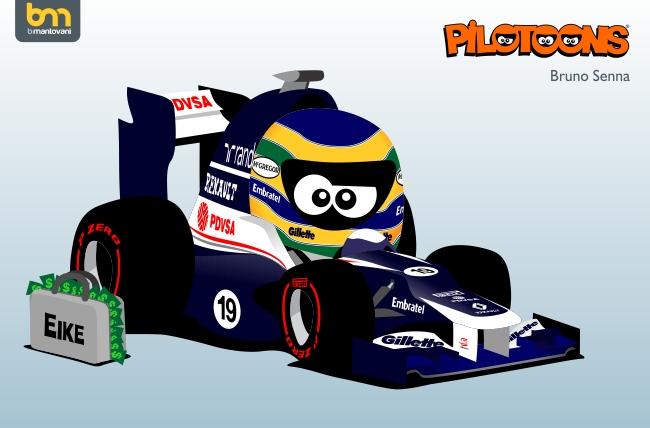 Бруно Сенна Williams FW34 pilotoons 2012