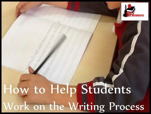 How to thelp students work on the writing process - blog post with instructional ideas from Raki's Rad Resources.