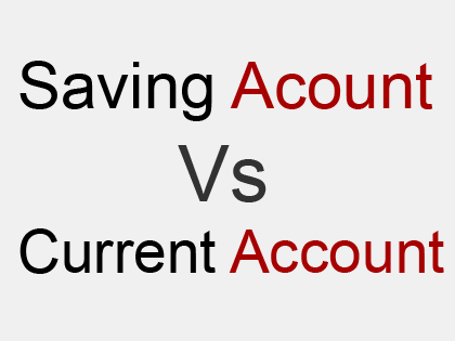 distinguish between saving and current account