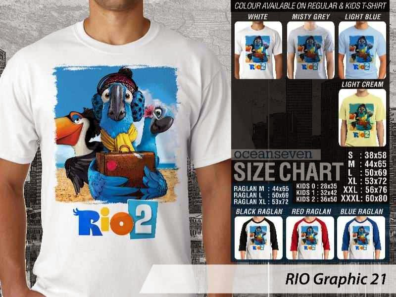 Kaos Film Animasi Lucu Desain RIO Graphic 21 distro ocean seven
