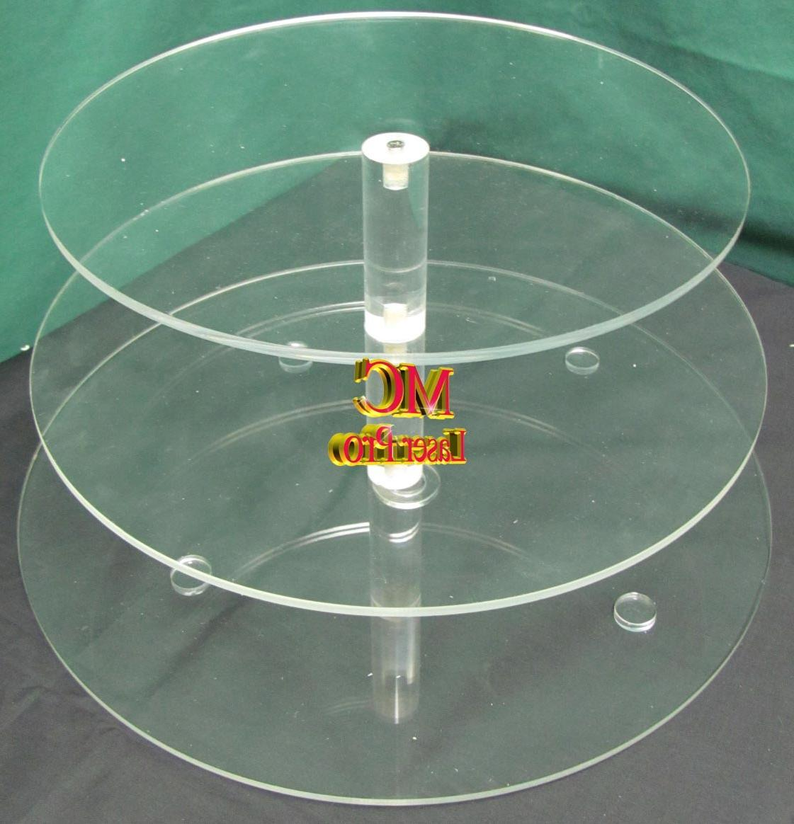 3 TIERS 1 4 Thick Acrylic Cupcake Stand Wedding Party  1