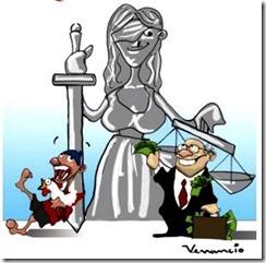 Justiça Cega Charge de Venâncio