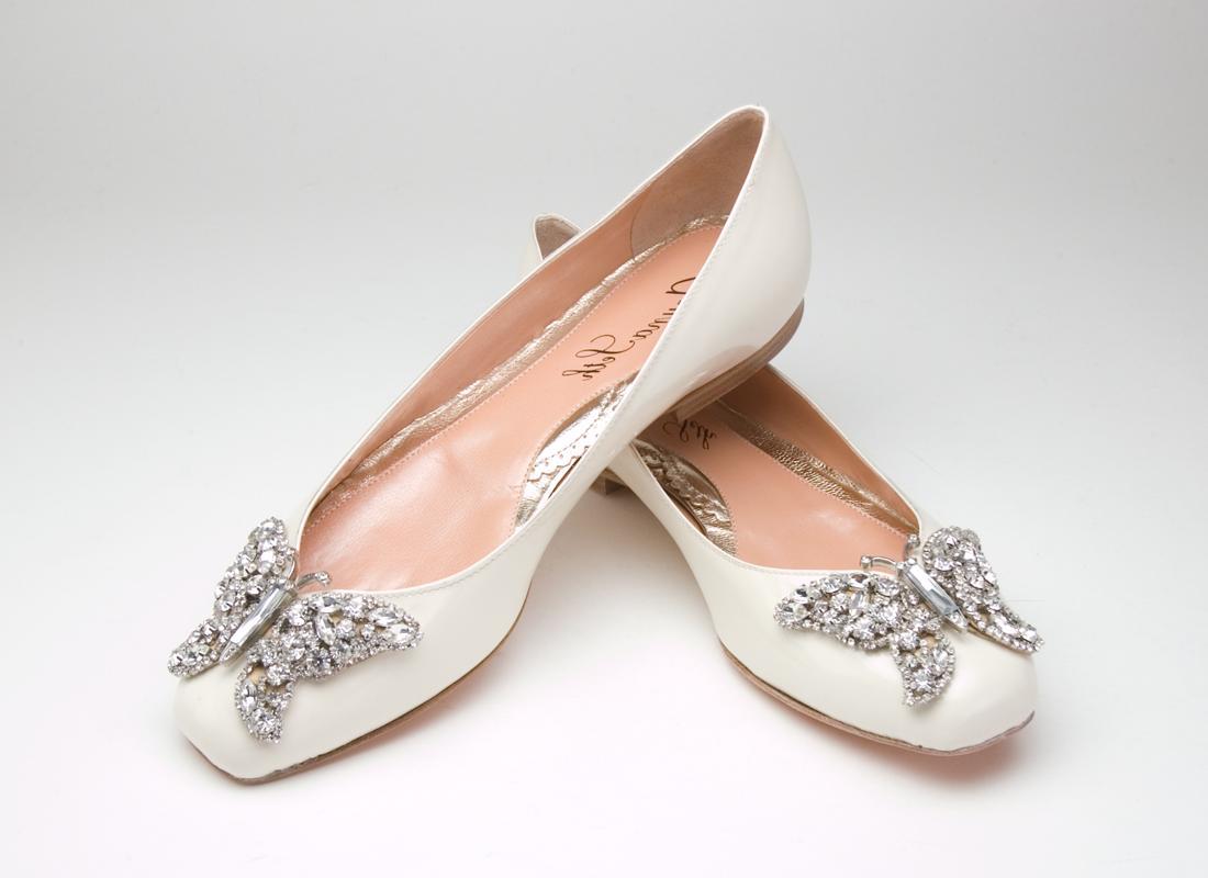 ivory wedding ballet flats