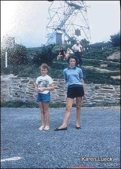 Brasstown Bald 1957.  Lenord E Foote in background.