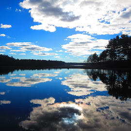 Cloud  Reflections by Richard Crosier - Landscapes Cloud Formations ( clouds, water, reflection, nature, landscapes, sun,  )