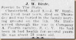 J. W. Bittle Obit