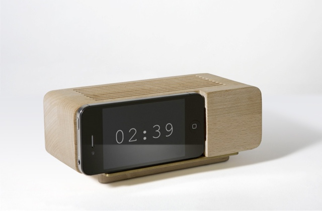 Beech iPhone Alarm Dock Clock by Jason Damon