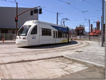 IMG_6063 TriMet MAX Type 4 Siemens S70 LRV #407 at Union Station in Portland, Oregon on May 9, 2009