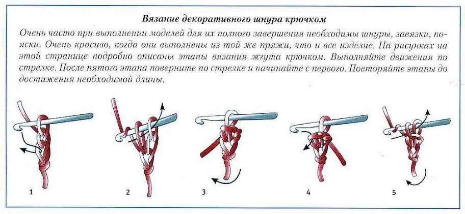 Вязание шнуров и жгутов 487