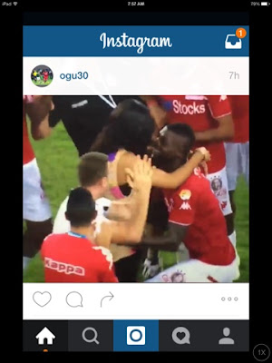 Super Eagles Midfielder, John Ogu Proposes To Girlfriend After Hapoel Win